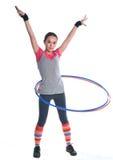 flickagymnastikcirklar royaltyfri bild