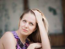 flickahårhand Royaltyfria Bilder
