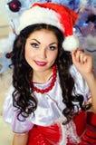 flickahatt santa Arkivbild