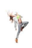 Flickahip-hop dansare royaltyfria bilder