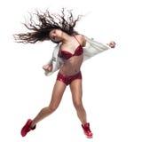 Flickahip-hop dansare Royaltyfria Foton