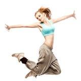 Flickahip-hop dansare Arkivfoto