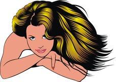 flickahuvud royaltyfri illustrationer
