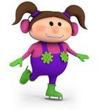 flickais little som åker skridskor Royaltyfria Foton