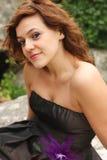 flickaisskridsko royaltyfri foto