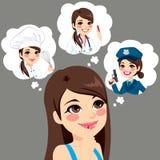 Flickakarriärval royaltyfri illustrationer
