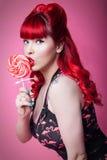 flickaklubbastift upp Fotografering för Bildbyråer