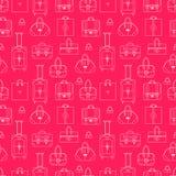 Flickaktigt sömlös vektorbakgrund med shopping Arkivbild