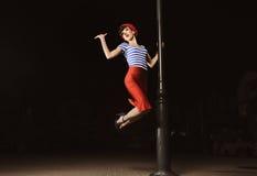 flickalyktastift upp Fotografering för Bildbyråer