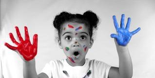 flickamålarfärg Royaltyfri Bild