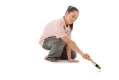 flickamålning Fotografering för Bildbyråer