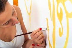 Flickamålning Royaltyfri Fotografi