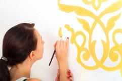 Flickamålning Arkivbild