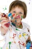 flickamålning arkivbilder