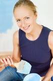 flickamålningsväggar Royaltyfri Foto