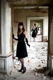 flickamanapelsiner två Fotografering för Bildbyråer
