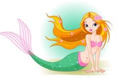 flickamermaid royaltyfri illustrationer