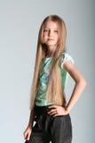 flickamodellen poserar Arkivfoto