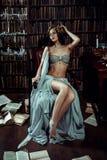 Flickamusa av poeten Arkivfoto