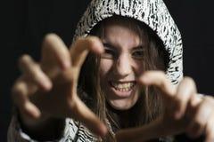 Flickan är ilsken Royaltyfri Fotografi