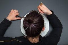 Flickan äter Royaltyfri Foto
