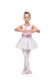Flickan dansar balett Arkivbild