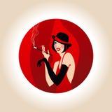 Flickan från kabareten Arkivfoto