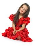 Flickan i röd spanjor (serie) Arkivfoton