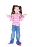 flickan little förbryllade Arkivfoto