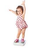 flickan little skalar standing Royaltyfri Foto