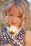 flickan little steg Royaltyfri Fotografi