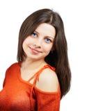 Flickan med rött överträffar Arkivfoton