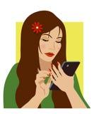 Flickan med ringer Royaltyfria Foton