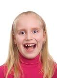 flickan mjölkar den leenden snappade tanden Royaltyfria Bilder
