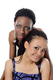 Flickan mulatten och den svarta flickan Royaltyfria Bilder
