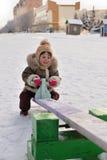 Flickan på en swing Royaltyfri Bild