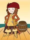 flickan piratkopierar Royaltyfri Bild