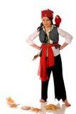 flickan piratkopierar Fotografering för Bildbyråer
