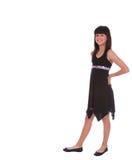 flickan poserar plattform moderiktig royaltyfri bild