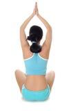 flickan poserar yoga Royaltyfria Foton