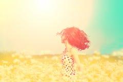 Flickan som går på bovetet, sätter in arkivbilder