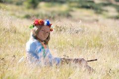 flickanational ukraine Royaltyfria Foton