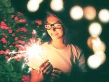 Flickanatt ut i New York Royaltyfria Bilder