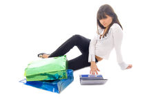 flickaonline-shopping Fotografering för Bildbyråer