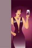 flickarött vin Royaltyfri Foto