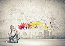 Flickaridningcykel Fotografering för Bildbyråer