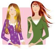 flickasamtal Arkivbild