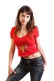 flickaskjorta Royaltyfria Bilder