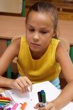 flickaskola Arkivbilder