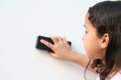 flickaskolabarn arkivbilder